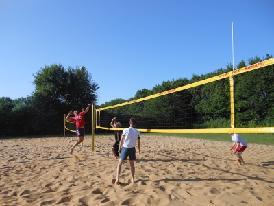 Beachplatz Volleyball